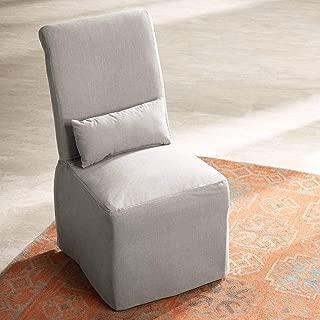 Naomi Petyon Slate Armless Dining Chair - 55 Downing Street