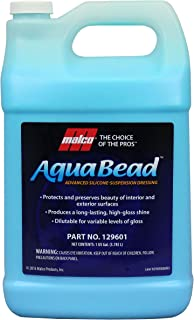 Malco Aqua Bead Water Based Dressing, Non-Greasy Interior and Exterior Dressing, Shines Car Tires, Rubber, Plastic and Trim, Concentrated Formula, Dilutable for Variable Gloss,1 Gallon (129601)