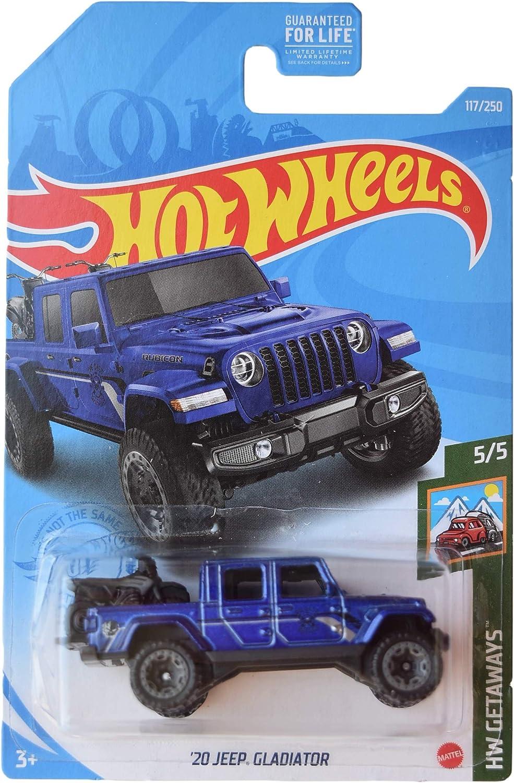 DieCast Hotwheels '20 Gladiator Max 47% OFF Blue 5 Time sale Getaways