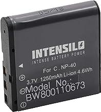 EX-P600 para videoc/ámara c/ámara de video Casio Exilim EX-FC100 EX-Z100 INTENSILO 2 x Li-Ion bater/ía 1250mAh EX-Z1000 por NP-40. EX-P700 3.7V