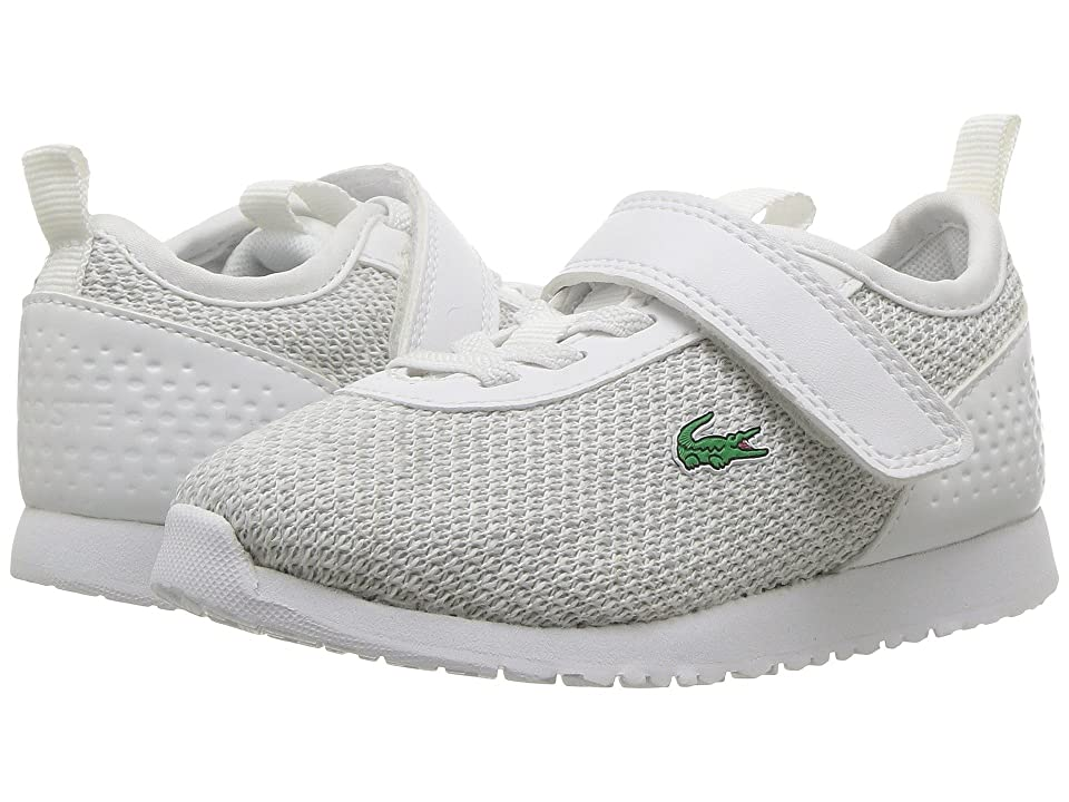 Lacoste Kids Lt Spirit 2.0 318 (Toddler/Little Kid) (White/Light Grey) Kid