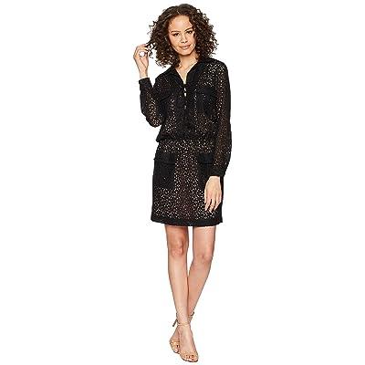 Nicole Miller Lace-Up Dress (Black) Women