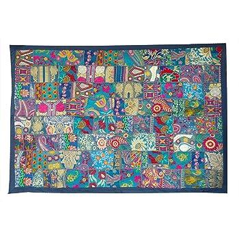 dise/ño vintage para colgar en la pared Rastogi Handicrafts tapiz indio hecho a mano bordado para colgar en la pared