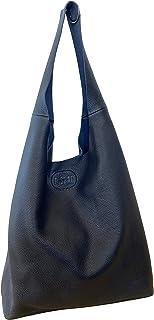 BISBAG, borsa grande in vera pelle pregiata e riciclata, sacca fatta a mano a Firenze da abili artigiani, Made in Italy (B...