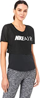 Nike Australia Women's Air Running Top, Black/(White)