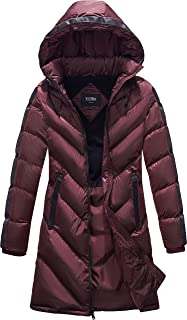 burgundy parka womens