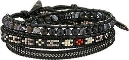 Chan Luu - Matte Black Sardonyx Mix Triple Wrap Bracelet