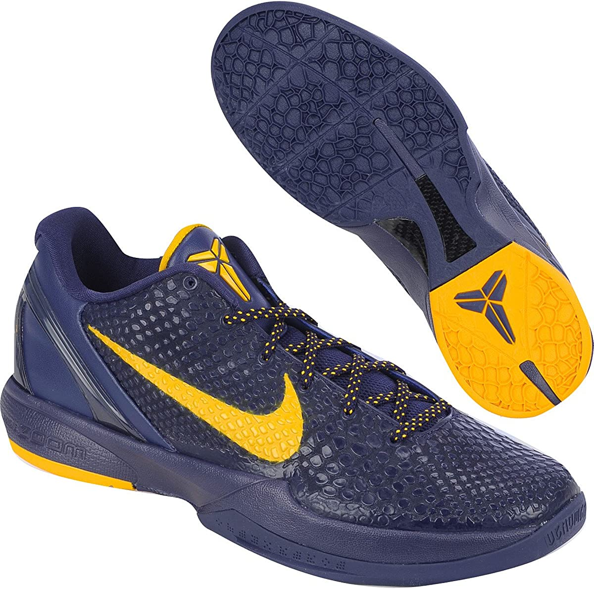 Amazon.com   Nike Zoom Kobe VI 6 Imperial Purple Del Sol Yellow ...