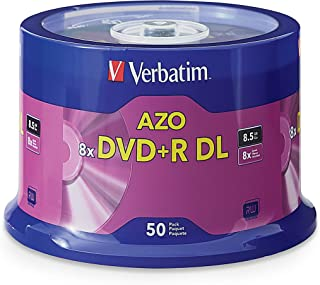 Verbatim DVD+R DL 8.5GB 8X with Surface - 50pk Spindle