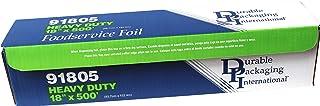 """Durable Heavy Duty Aluminum Foil Roll, 18"""" Width x 500' Length"""