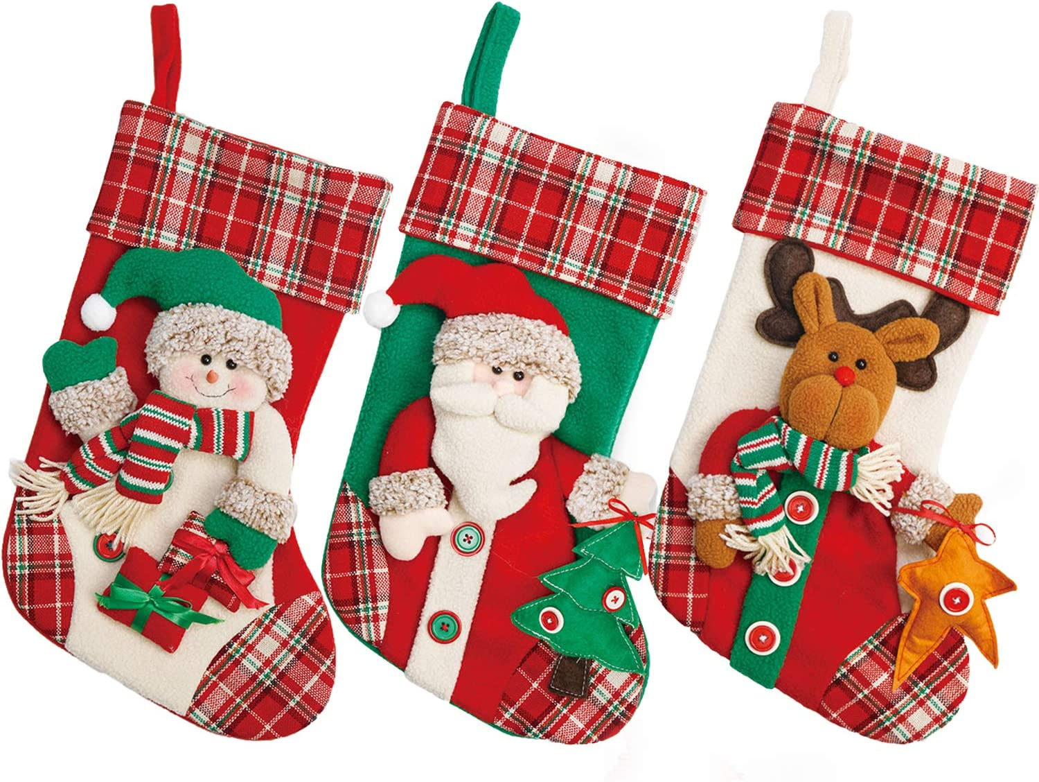 Yecence Animer and Challenge the lowest price of Japan price revision Christmas Stockings Large 3 Pcs Style Set 19