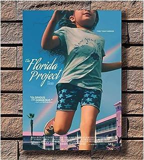 フロリダプロジェクト映画チャイルドプロットフィルムキャンバスポスターウォールアートキャンバスペインティングリビングルームホームデコレーションギフト(50X75Cm)-20x30インチフレームなし