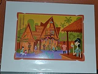 Tropical Hideaway Disney Tiki Room 50th Anniversary SHAG Matted 18x14 Print