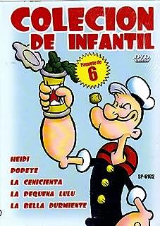 Colecion the Infantil-Popeye+La Cenicienta+La Bella Durmiente+La Pequena Lulu+Heidi [Box Set] [6 DVDs, Slim Case]