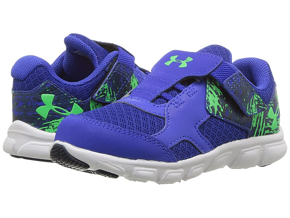 Under Armour Kids UA BINF Thrill RN AC (Infant/Toddler) (Royal/White/Arena Green) Boys Shoes