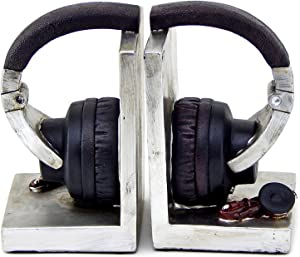 Bellaa 26256 Headphone Bookends Music Lover 6 Inch Tall
