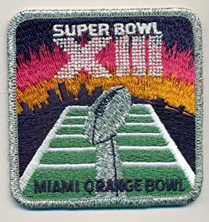 Super Bowl XIII 13 Official Patch Pittsburgh Steelers vs Dallas Cowboys at Orange Bowl