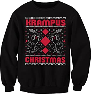 krampus knit ugly christmas sweater