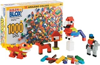 Build'n Blox Creative Building Blocks Building Bricks -Educational Classic Build Learning Toys Kids -12 Colors 14 Different Shapes - Gift Birthday Holidays   500 1000 Pieces Leading Brands Compatible