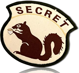 Special Ops Operations Military Morale Agent Spy Secretive Secret Squirrel Bold All Cap Caps Capitol Font Forest Camo Hook & Loop Fastener Patch [10 Pack - 2.5