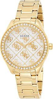 GUESS Womens Quartz Watch, Analog Display And Stainless Steel Strap - GW0001L2