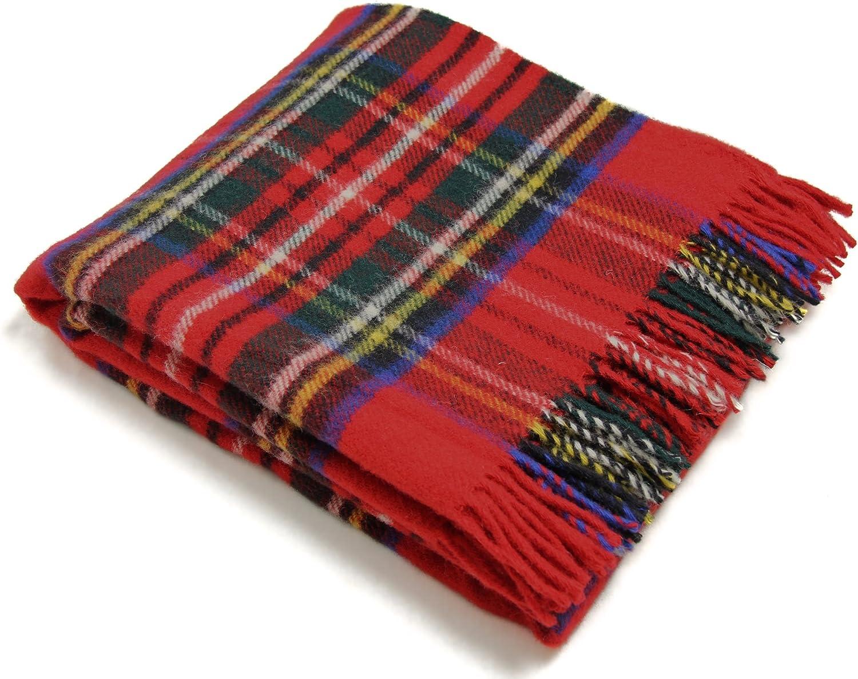 Tweedmill Textiles Royal Stewart Tartan Premium Wool Throw