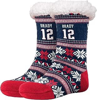 FOCO - NFL Womens Footy Slippers - Tom Brady #12