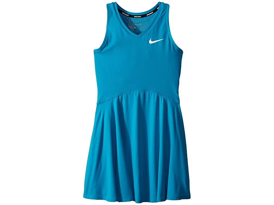 Nike Kids Court Pure Tennis Dress (Little Kids/Big Kids) (Neo Turquoise/White) Girl