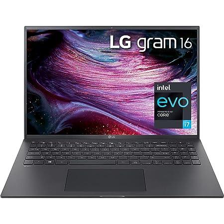 """LG LCD Laptop 16"""" WGXGA (2560x1600) Ultra-Lightweight (2.6 lbs), 11th gen CORE i7, 16GB RAM, 256GB SSD, C Port, USB-A, HDMI, microSD, Audi Jack, 22 Hr Battery Life - Black 2021, Alexa Built-in"""