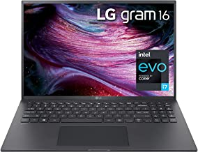 """LG LCD Laptop 16"""" WGXGA (2560x1600) Ultra-Lightweight (2.6 lbs), 11th gen CORE i7, 16GB RAM, 256GB SSD, C Port, USB-A, HDM..."""
