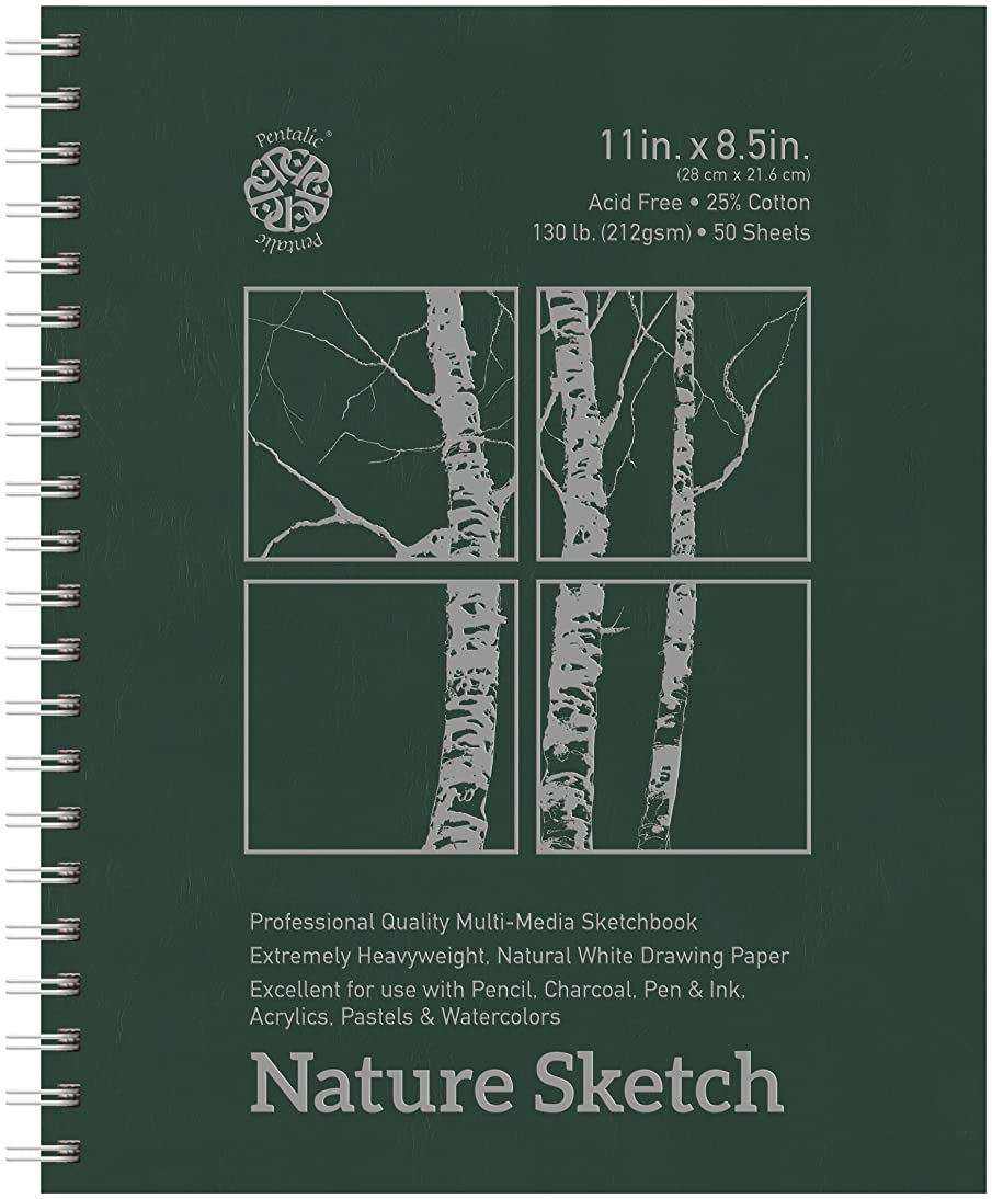 Pentalic Nature Sketch Pad, 11-Inch by 8-1/2-Inch