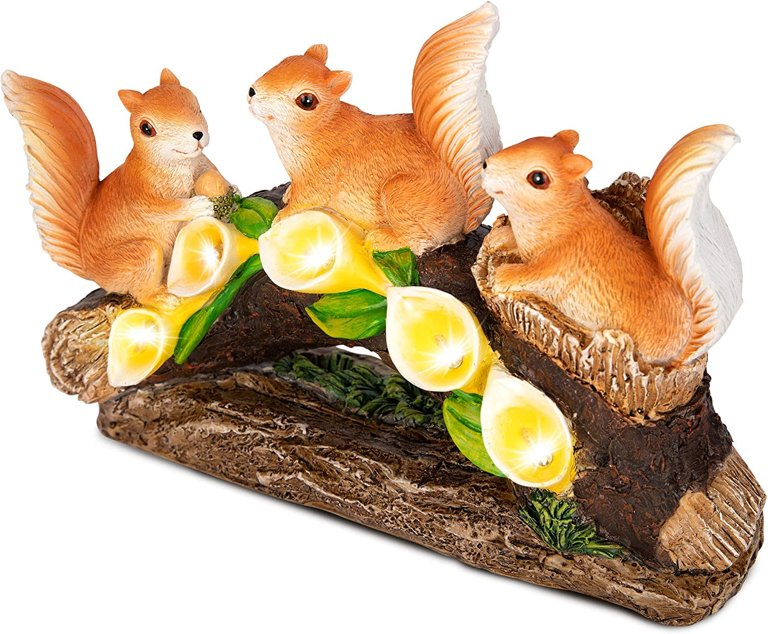 RealPetaled Ranking integrated Cheap sale 1st place Squirrels Garden Statues and O Art Figurines