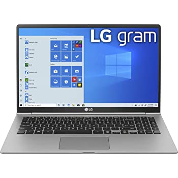 "LG Gram Laptop - 15.6"" Full HD IPS, Intel 10th Gen Core i5 (10210U CPU), 8GB DDR4 2666MHz RAM, 512GB NVMeTM SSD, Up to 21 Hours Battery, Intel UHD Graphics - 15Z995-U.ARS6U1 (2020)"
