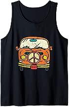 Bus Van Peace Sign 1960s Hippie Microbus Van Birthday Gift Tank Top