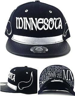 King's Choice Minnesota New Leader Horned Shadow Black White Black Era Snapback Hat Cap