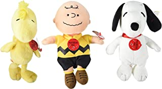 TY Beanie Babies - PEANUTS Characters (Set of 3 - Charlie Brown, Snoopy & Woodstock - Plays Music) + Free 12-Pack Of Peanuts Silly Bandz!!!