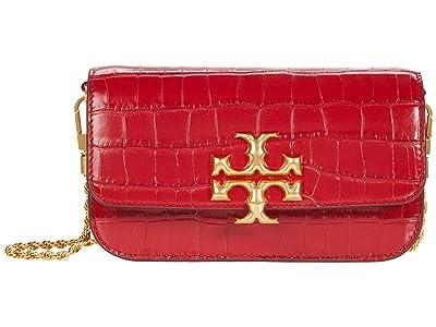 Tory Burch Eleanor Embossed Phone Crossbody (Redstone) Handbags