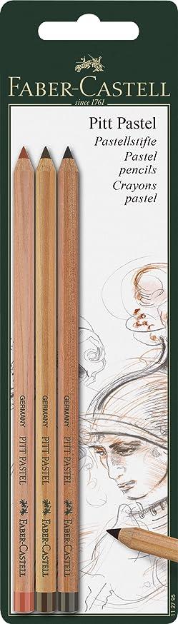Faber-castell Pitt Pastel Pencils Set Of 3 (sanguine, Light Sepia & Dark Sepia)