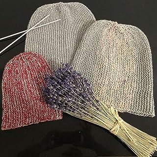 Set familiar de 4 gorros-bini, de lana y algodón, para toda la familia