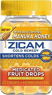 Zicam Cold Remedy Zinc Medicated Fruit Drops, Manuka Honey, 25 Count (Pack of 1)
