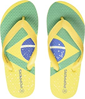 Poppers by Pantaloons Boy's Yellow Slippers-10.5 Kids UK (30 EU) (880000993)