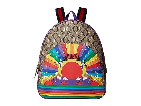 Gucci Kids GG Rainbow Bird Backpack (Little Kids/Big Kids)