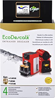 comprar comparacion EcoDescalk Ecológico en Polvo, 4 Sobres. Descalcificador 100% Natural. Limpiador para Cafeteras. Todas Las Marcas. 4 Desca...