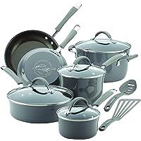 12-Piece Rachael Ray 16802 Cucina Nonstick Cookware Pots & Pans Set