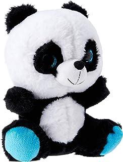 Elka Australia 3724-23BL Panda Glitter Soft Plush Toy, Blue, 23 Centimeters