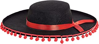 spanish hat with ball fringe