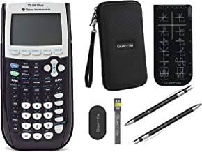 $139 » Texas Instruments TI-84 Plus Graphing Calculator + Guerrilla Zipper Case + Essential Graphing Calculator Accessory Kit (Black)
