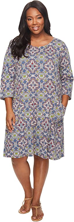 Extra Fresh by Fresh Produce - Plus Size Tile Play Dalia Dress