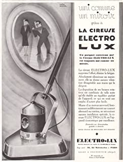 1929 Print Ad Electro-Lux Electric Floor Cleaner Polisher