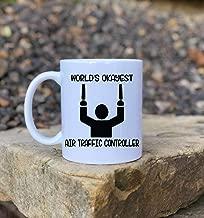 DKISEE Funny Air Traffic Controller Coffee Mug Air Traffic Controller Gift Gag Gift World'S Okayest Air Traffic Controller 11oz